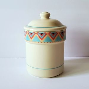 Vintage 1988 Sango Stoneware Canister + Lid